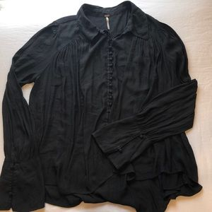Free people 100% polyester blouse